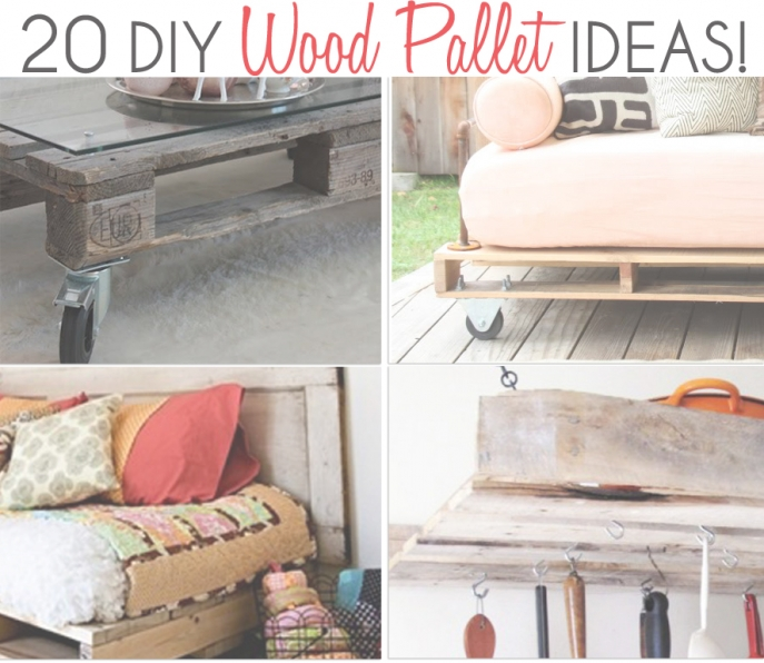 20 diy wood pallet ideas for Diy pallet home decor