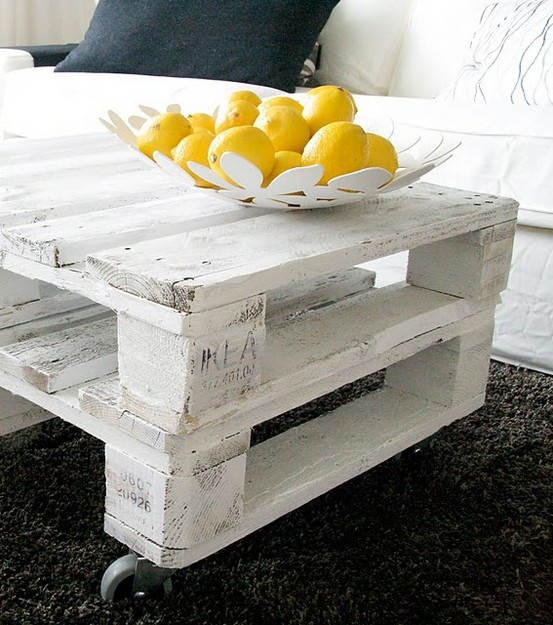 20 diy pallet ideas little inspiration - Fabriquer une table basse en palette ...