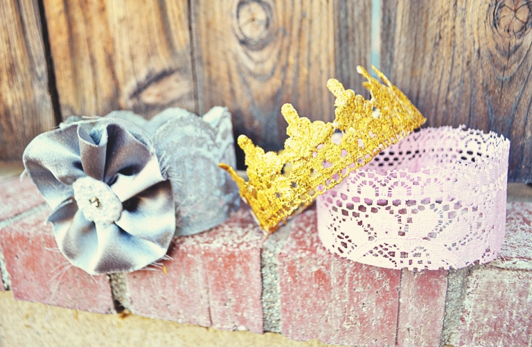 DIY Lace Crown at littleinspiration.com