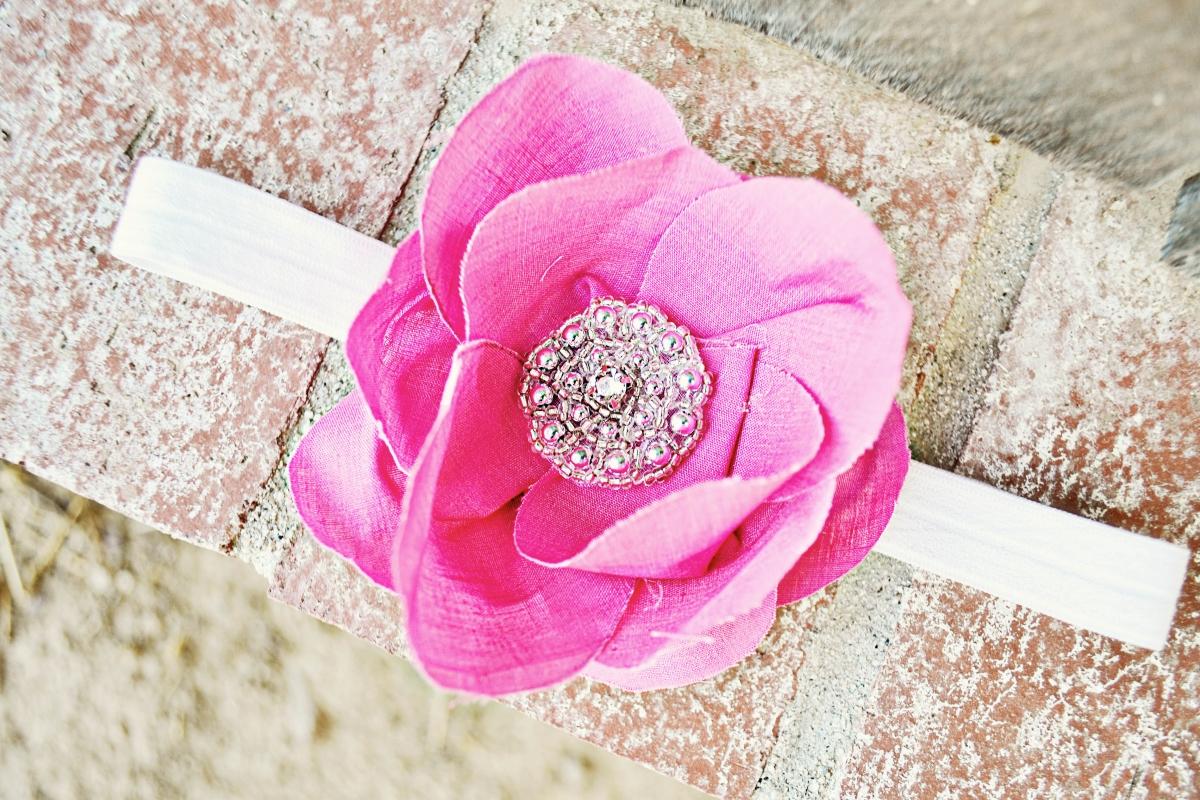 rose petal headband tutorial little inspiration