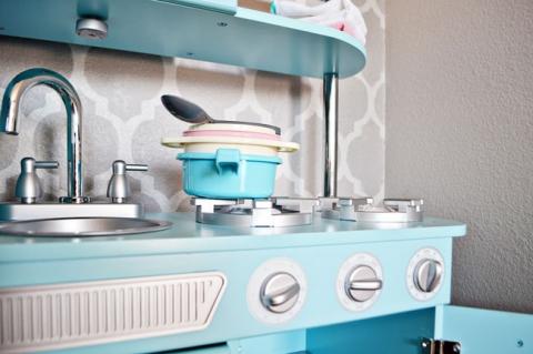 Kidkraft Kitchen Blue kidkraft review | vintage play kitchen » little inspiration