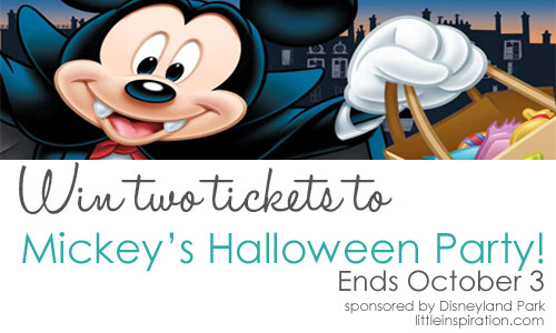 mickeys halloween party tickets giveaway little inspiration - Tickets For Disney Halloween Party