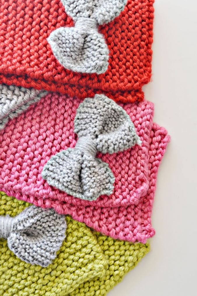 Knitting Pattern Bow Knot Scarf : How To Knit A Bow Scarf   Little Inspiration