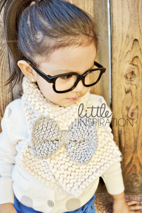How To Knit A Bow Scarf Little Inspiration
