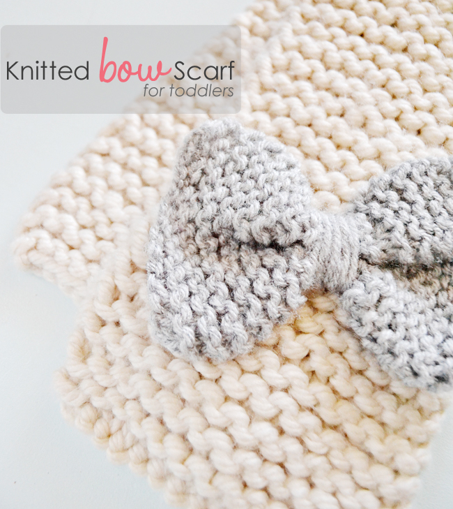 How To Knit A Bow Scarf ? Little Inspiration