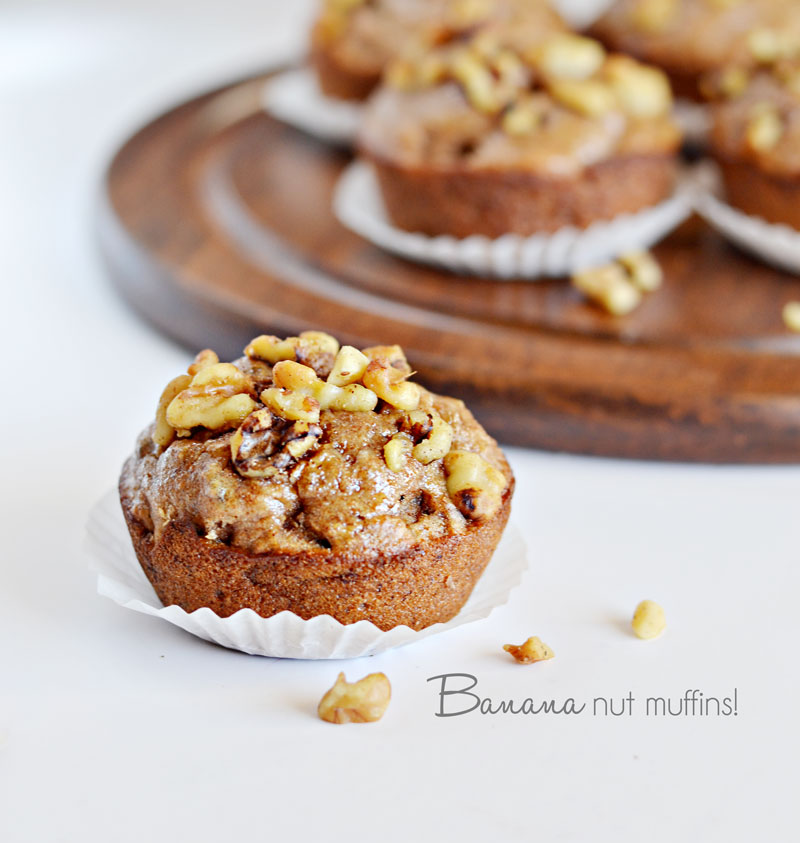 Banana Nut Muffins Recipe #vegan » Little Inspiration