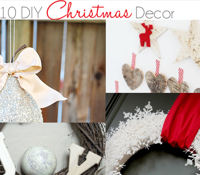 10 DIY Christmas Decor Ideas Little Inspiration