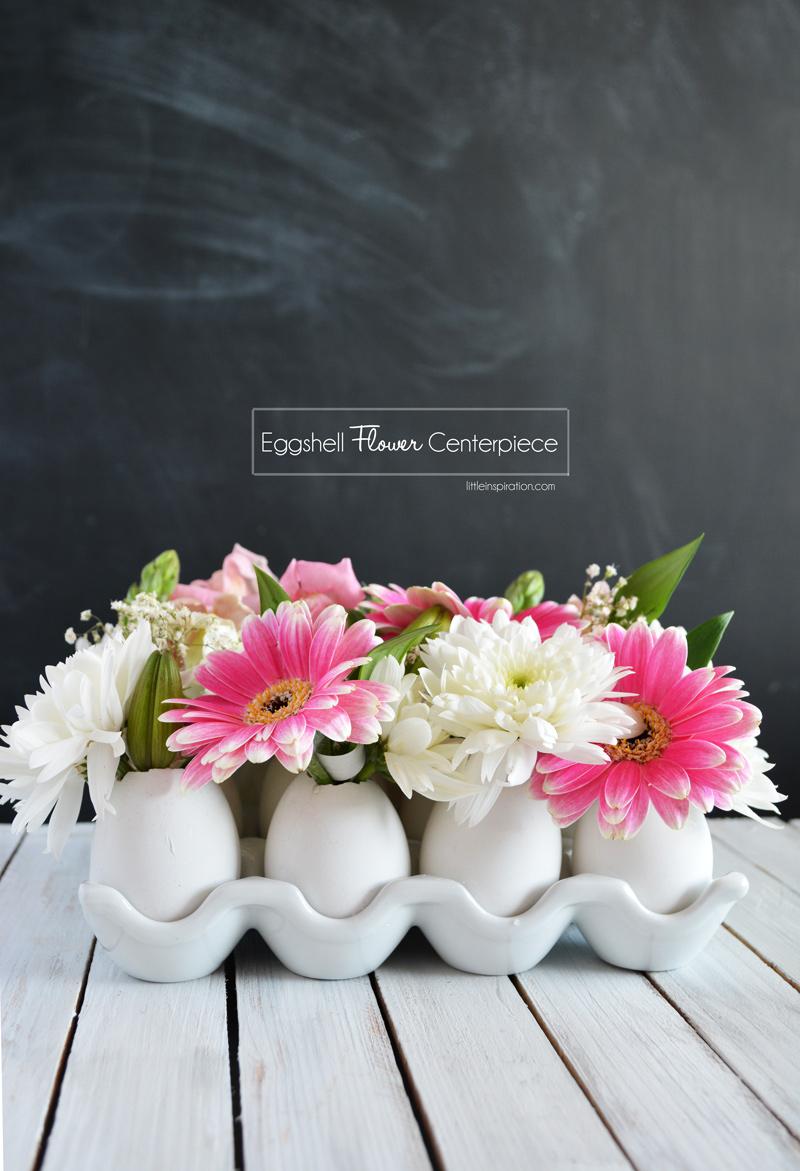 Diy eggshell flower centerpiece little inspiration