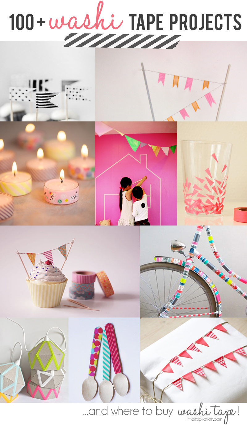 100 washi tapes project ideas and where to buy washi for Crafts with washi tape