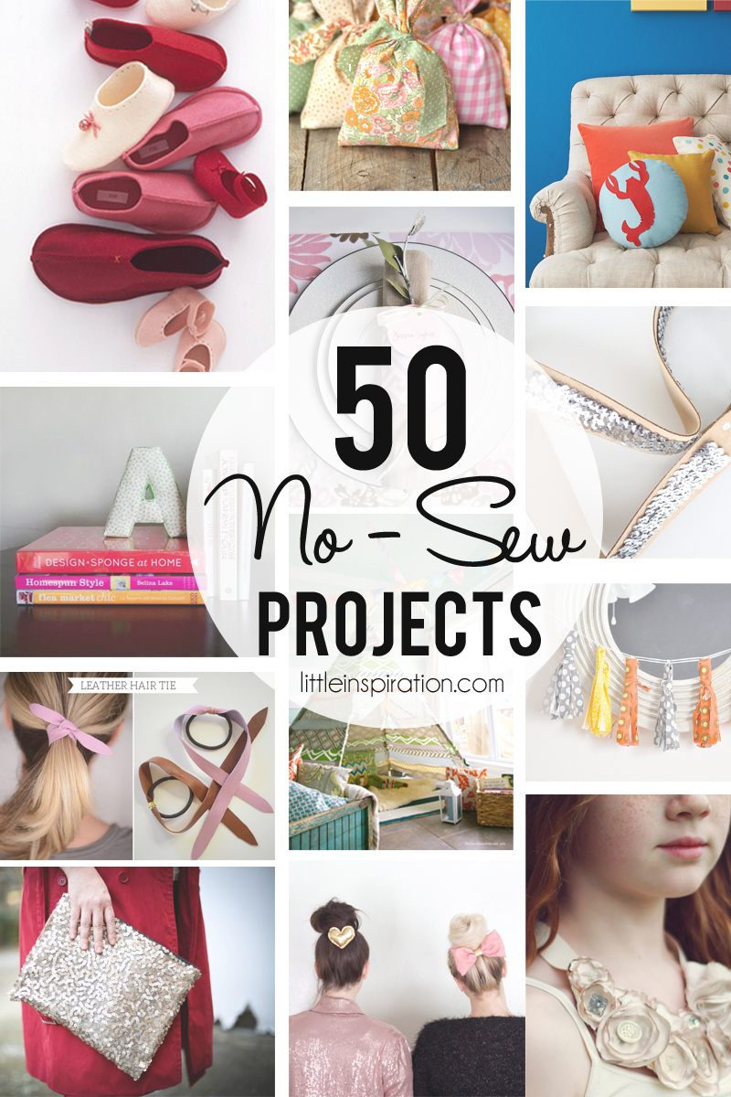 50 No-Sew Projects! » Little Inspiration