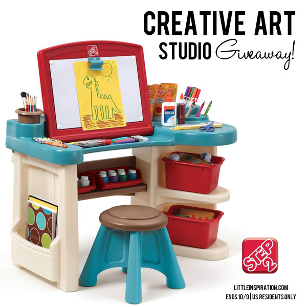 Amazing Step2 Creative Art Studio Review Giveaway Little Inspiration Bralicious Painted Fabric Chair Ideas Braliciousco