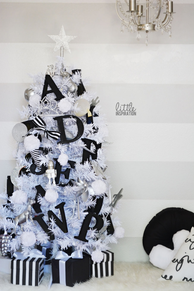 Black white christmas decorations for trees - An Alphabet Christmas