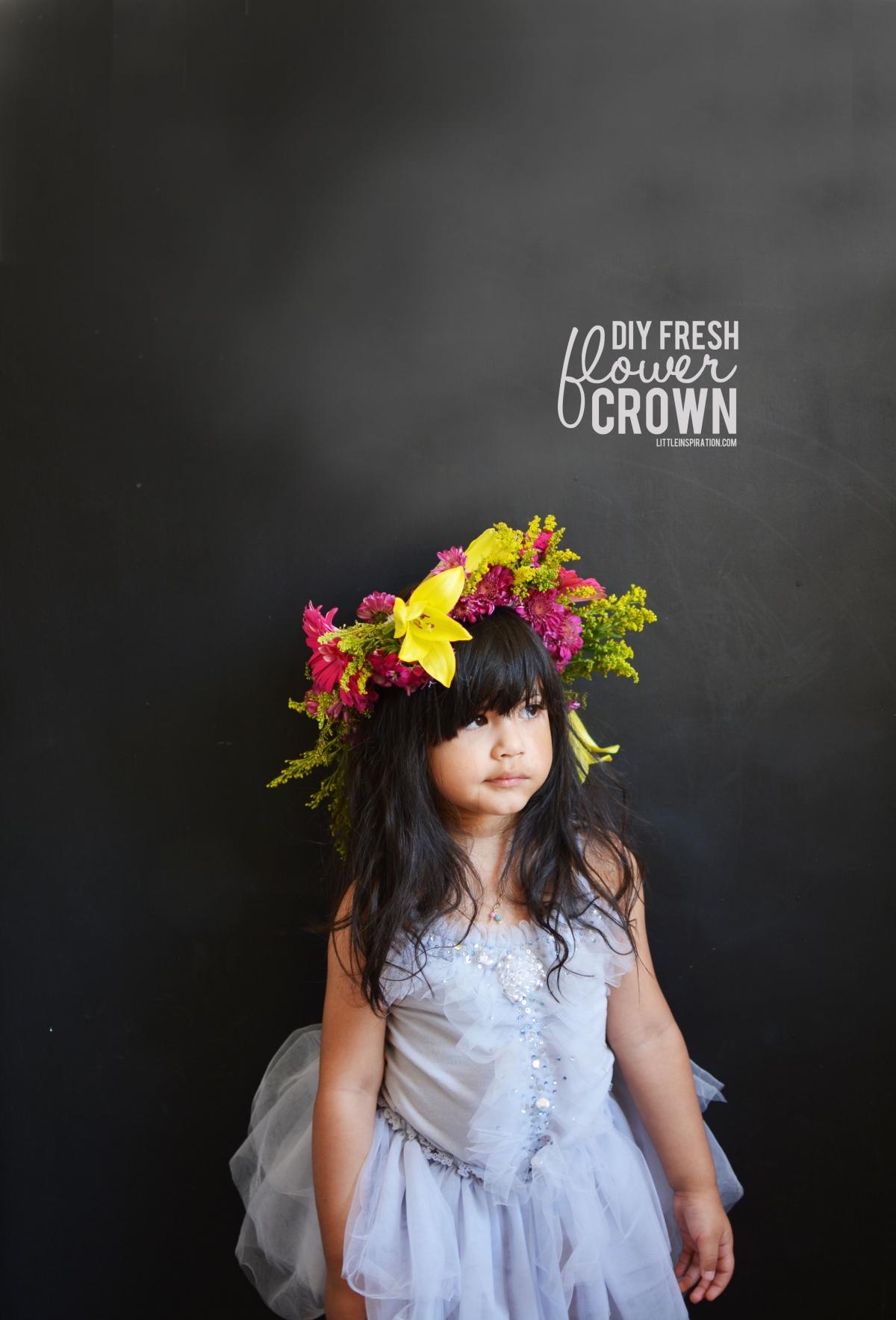 DIY Fresh Flower Crown Little Inspiration
