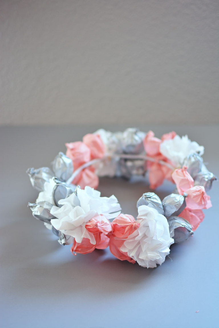 Diy Tissue Paper Crown Little Inspiration