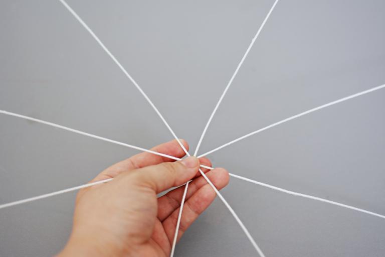 halloween craft spider web