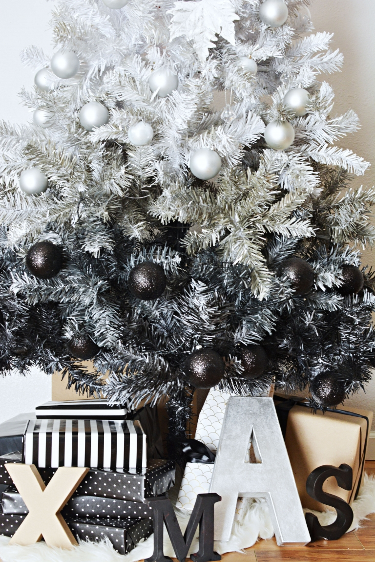 hope you like our ombre christmas tree and inspires you to re create it for your home - Black And Silver Christmas Tree