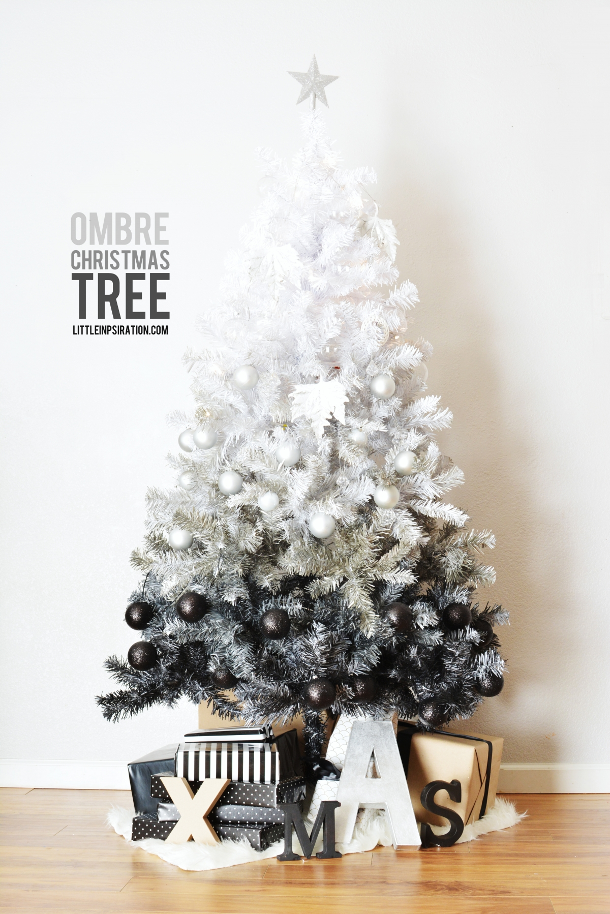 DIY Ombre Christmas Tree » Little Inspiration