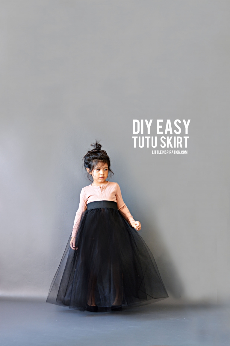 DIY Easy Long Tutu Skirt Little Inspiration