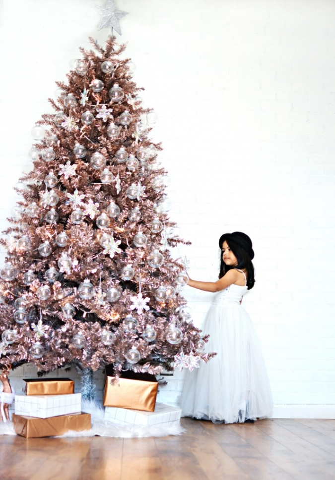 Diy Rose Gold Christmas Tree 187 Little Inspiration