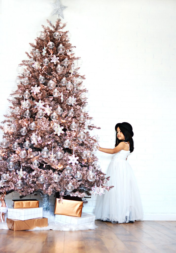 Diy Rose Gold Christmas Tree Little Inspiration