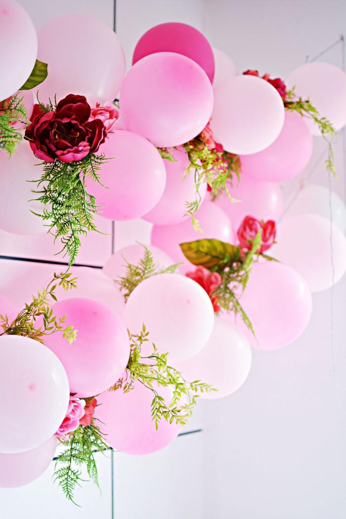 Diy Balloon Flower Garland Little Inspiration