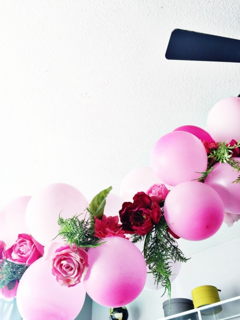 Diy balloon flower garland little inspiration now that you have your garland ready you can make more in various colors combinations hope you are inspired to create your own balloon flower garland mightylinksfo