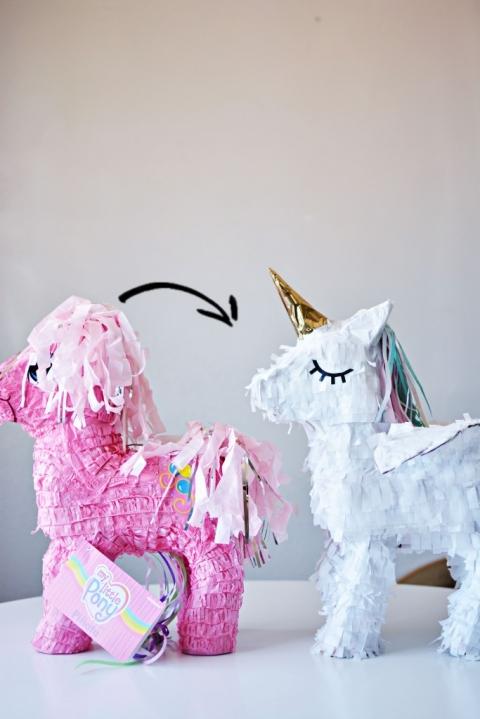 Diy Unicorn Pinata on Donkey Mask Template