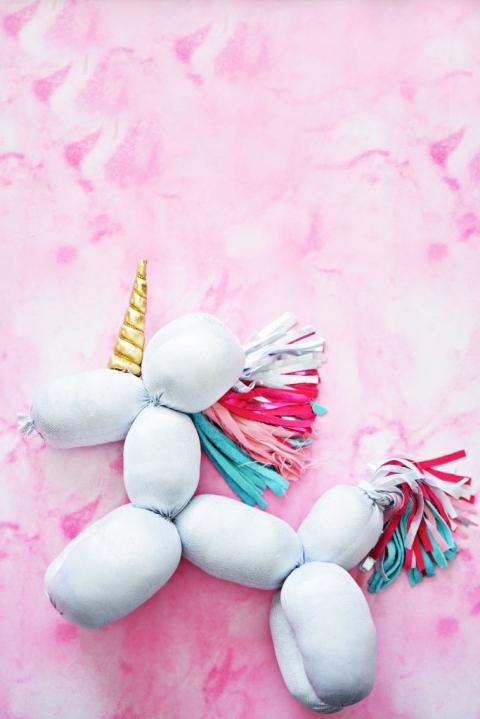 Diy Balloon Stuffed Animal Unicorn Little Inspiration