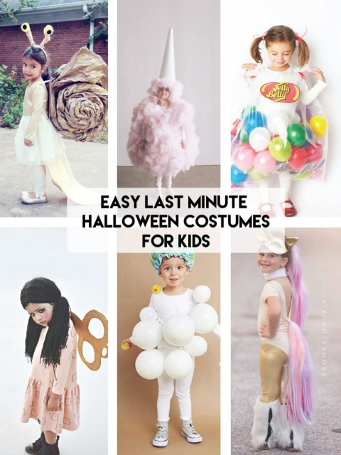 Cotton Candy Costume What is fluffy and cute this Halloween? Use plenty of fiber filling a little spray paint with the choice of your cotton candy flavor ...  sc 1 st  Little Inspiration & Easy Last Minute Halloween Costumes for Kids » Little Inspiration