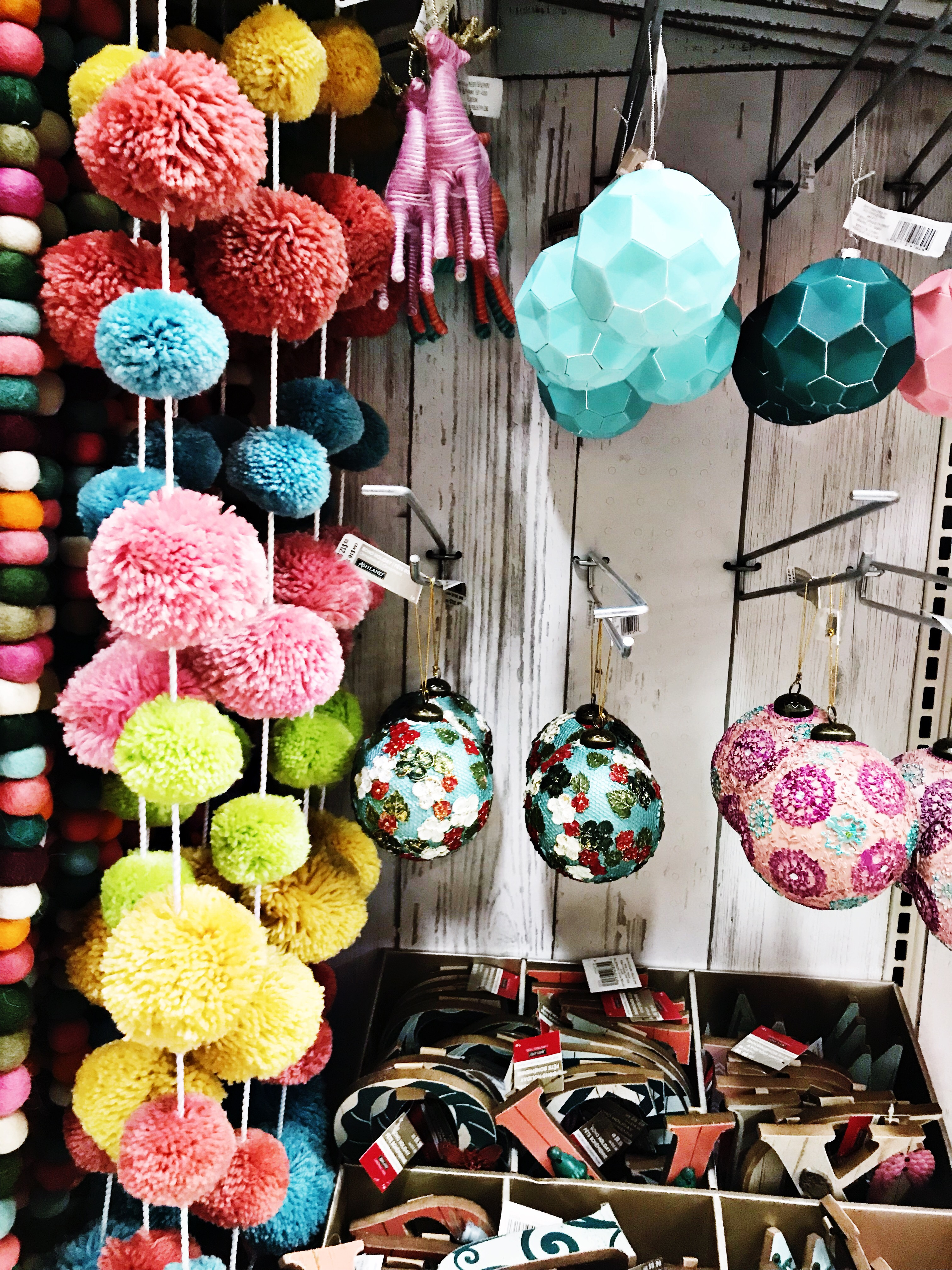 ... with the Boho Chic Decor and the vintage style pieces! Check out those pom pom garlands, Christmas cactus and lots of chic Christmas items at Michael's.